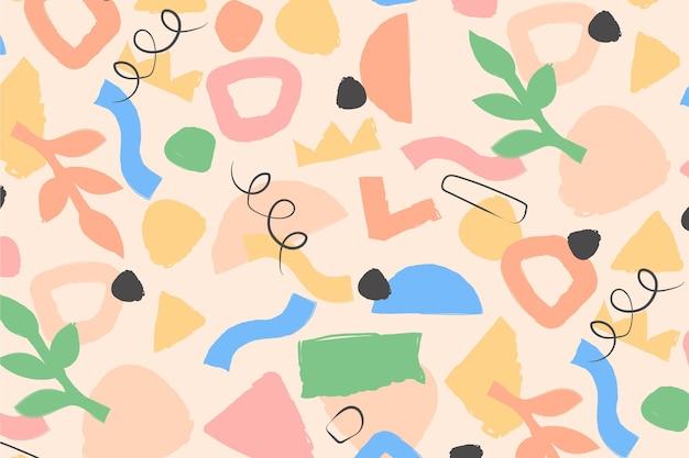 유기 평면 추상 요소 패턴
