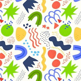 有機フラット抽象的な要素パターン