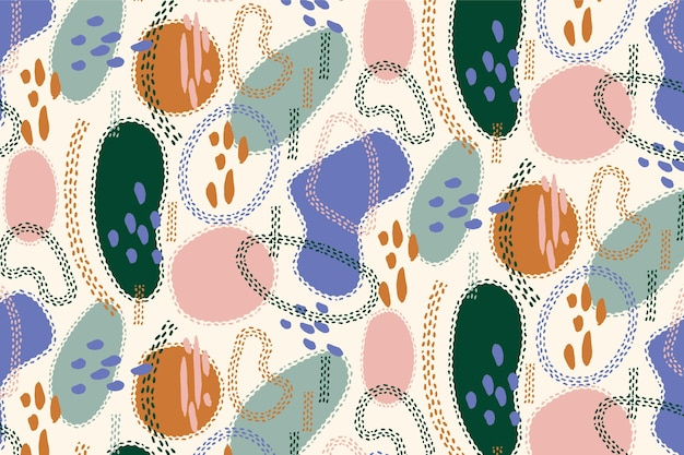Organic flat abstract element pattern