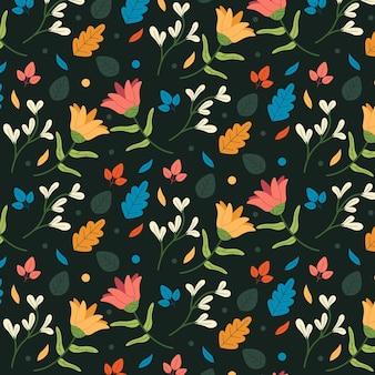 유기 평면 추상 꽃 패턴
