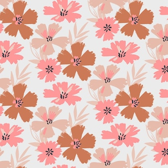 Organic flat abstract floral pattern