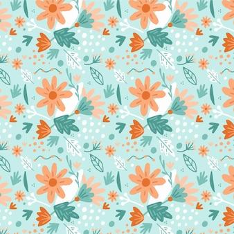 有機フラット抽象的な花柄