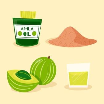 Illustrazione di amla piatta organica