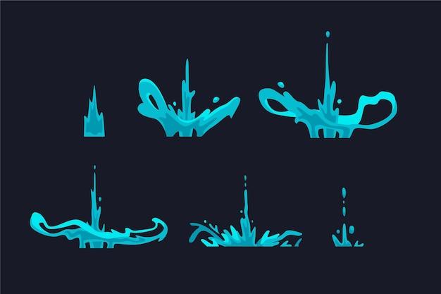 요소에 대한 유기적 평면 애니메이션 프레임
