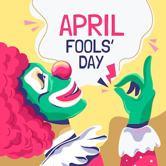 Organic flat april fools' day illustration