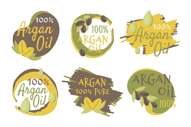 Плоский набор бейджей с органическим аргановым маслом