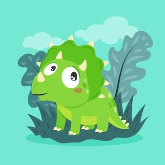 Organic flat baby dinosaur