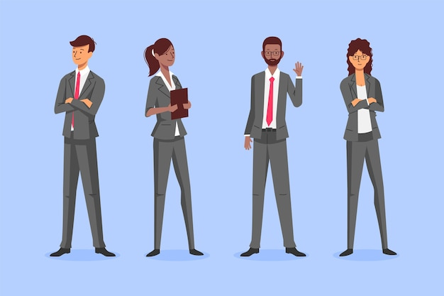 Organic flat business people collection