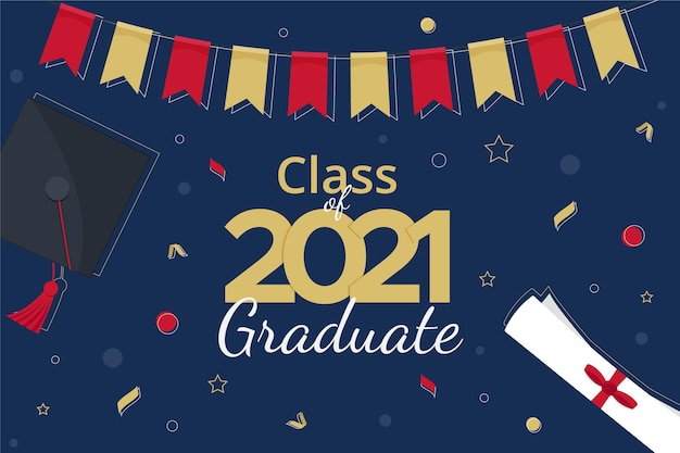 Organic flat class of 2021 illustration