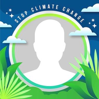 Organic flat climate change facebook avatar frame