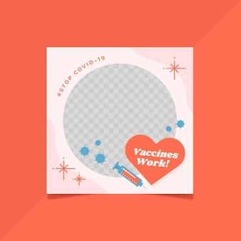 Organic flat coronavirus facebook frame