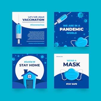 Pacchetto post instagram piatto organico coronavirus