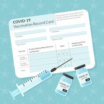 Шаблон карточки вакцинации против органического коронавируса