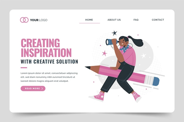 Organic flat creative solutions web template