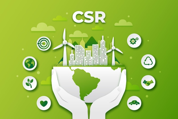 Organic flat csr concept illustrated