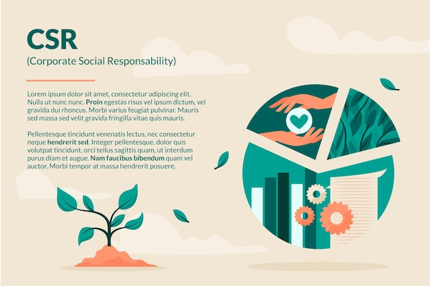 Organic flat csr concept illustrated Free Vector
