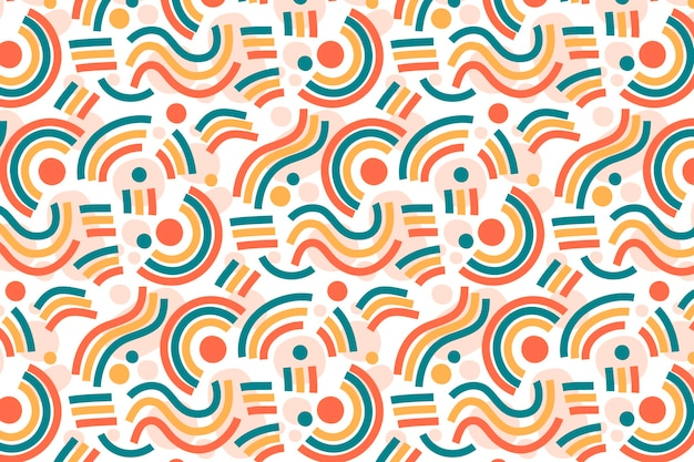 Organic flat design abstract element pattern