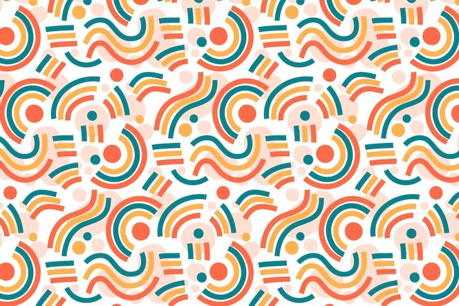 有機フラットデザイン抽象的な要素パターン