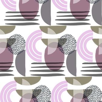유기 평면 디자인 추상 요소 패턴