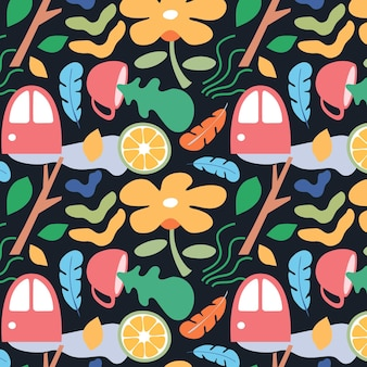 Organic flat design abstract element pattern Free Vector