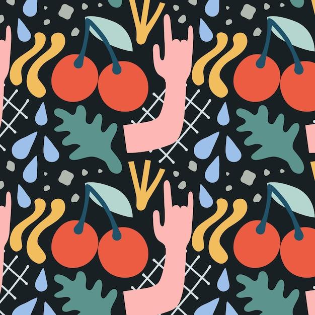 Organic flat design abstract element pattern
