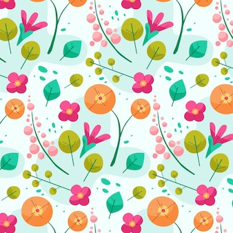 Motivo floreale astratto design piatto organico