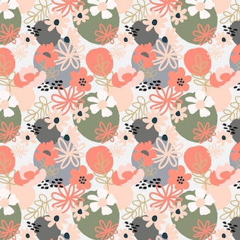 有機フラットデザイン抽象的な花柄