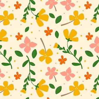 유기 평면 디자인 추상 꽃 패턴