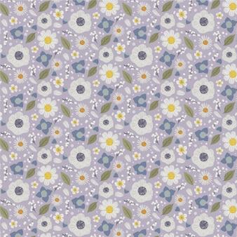 Органический плоский дизайн абстрактный цветочный узор