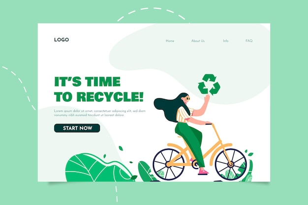 Organic flat design csr concept illustrated