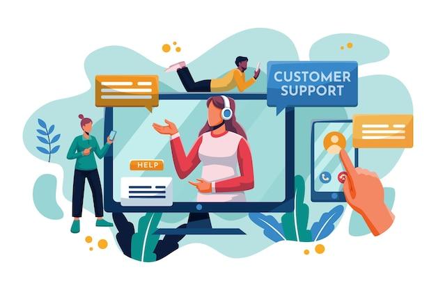 Organic flat design customer support