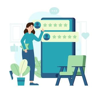 Organic flat design feedback concept