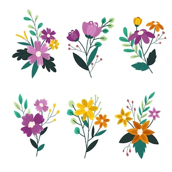 Organic flat design flower collection
