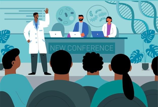 Organic flat design medical conference