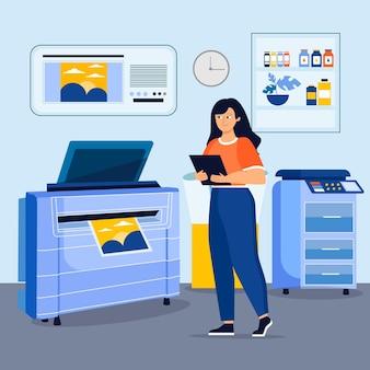 有機フラットデザイン印刷業界