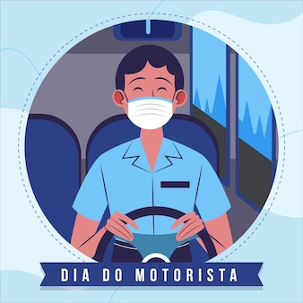 Organic flat dia do motorista illustration