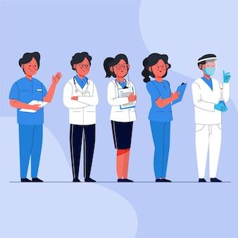 有機フラット医師と看護師
