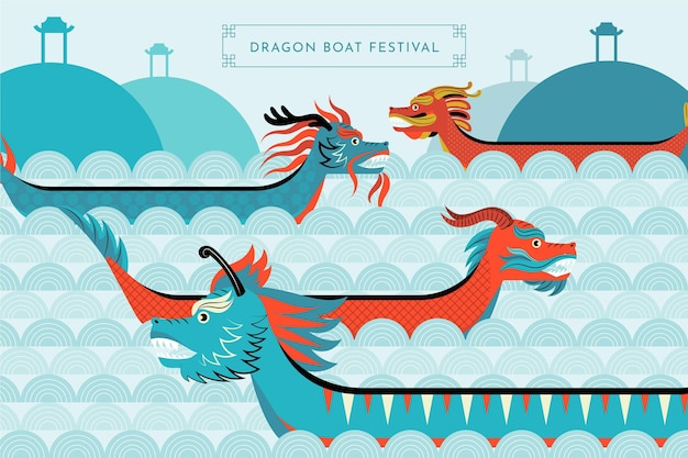 Organic flat dragon boat collection