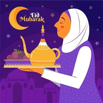 유기 평면 eid al-fitr 그림