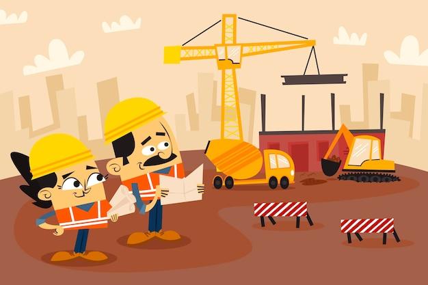 建設に取り組んでいる有機フラットエンジニア