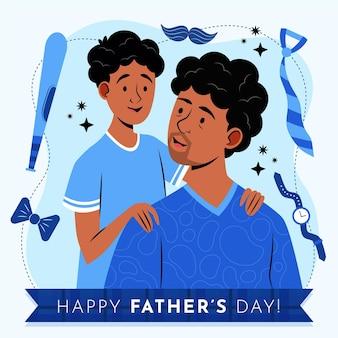 Organic flat father's day illustration