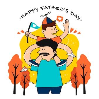 Органическая плоская иллюстрация дня отца