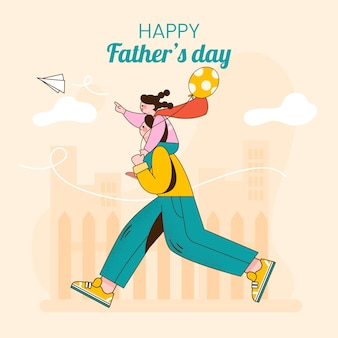 Organic flat father's day illustration