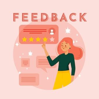 Organic flat feedback concept