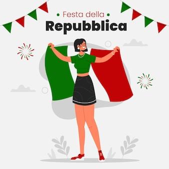 Органическая квартира festa della repubblica иллюстрация
