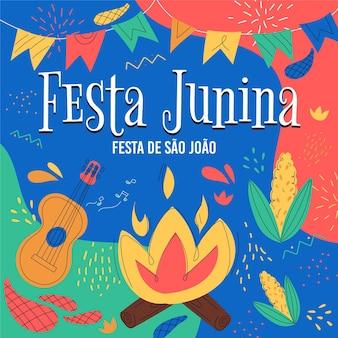 Organic flat festa junina collection