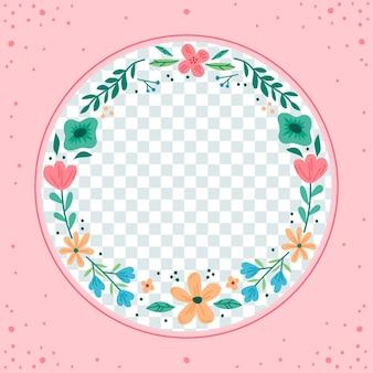 Organic flat floral facebook frame
