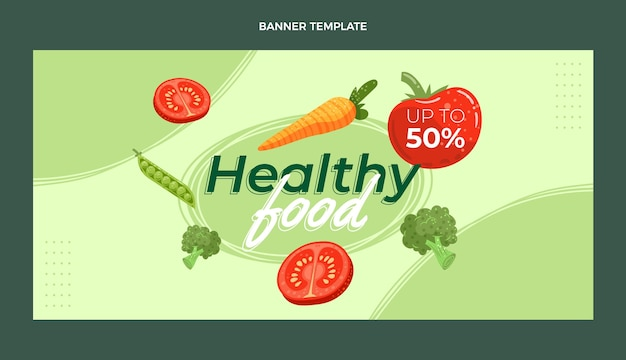 Organic flat food sale background