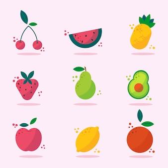 Raccolta di frutta piatta biologica