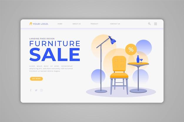Домашняя страница продажи органической плоской мебели